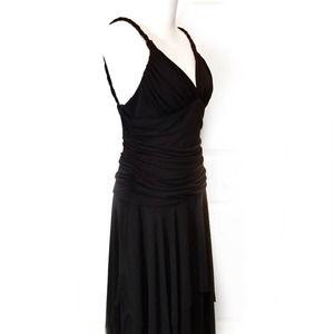 IN Studio Black High Low Braid Straps Dress